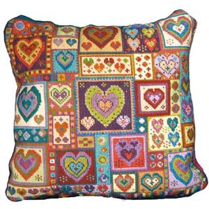 Little Heart Patchwork Cushion