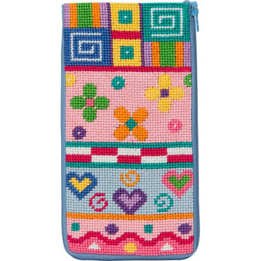 Stitch & Zip Eyeglass Case Patchwork