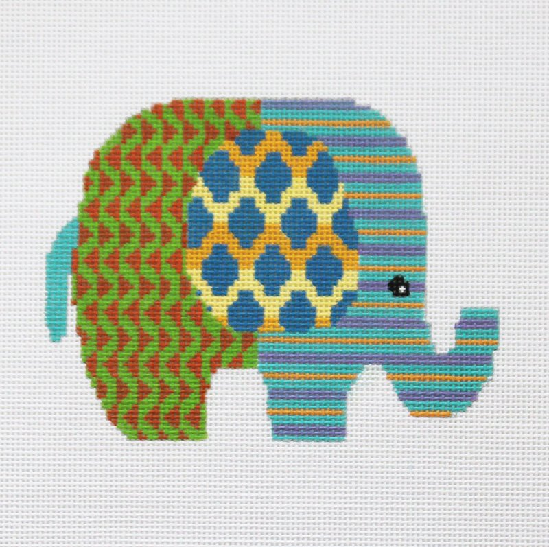 Colorful baby elephant - Canvas Only