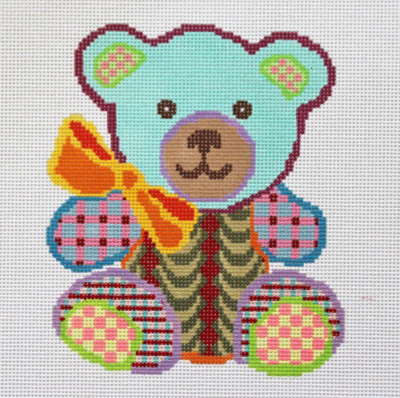 Colorful teddy bear - Canvas Only