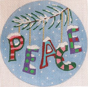 PEACE a Whimsical Christmas Ornament - Canvas Only