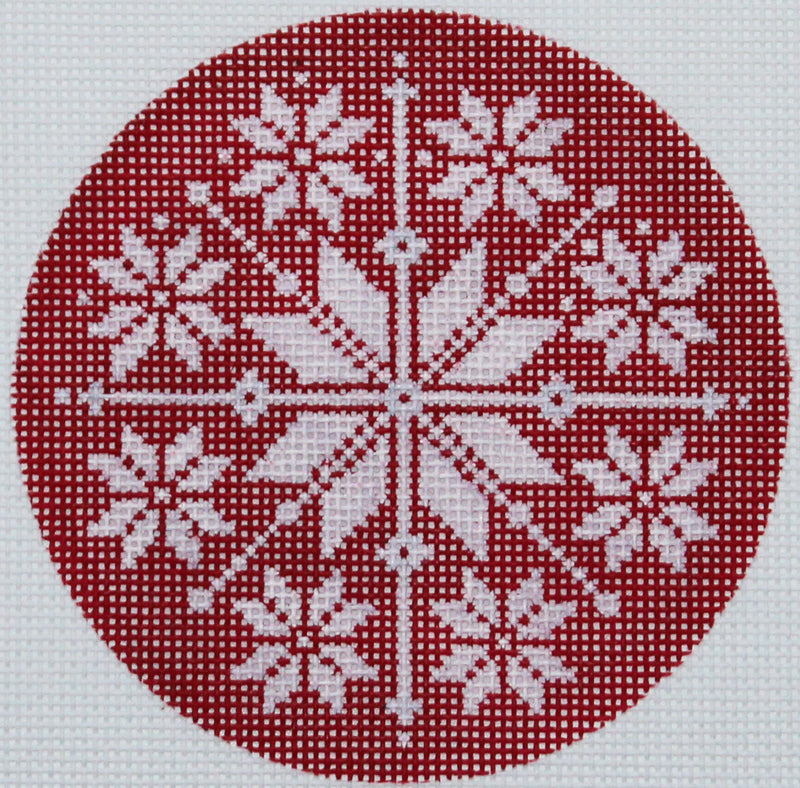 Snowflake -red by Pepperberry Designs