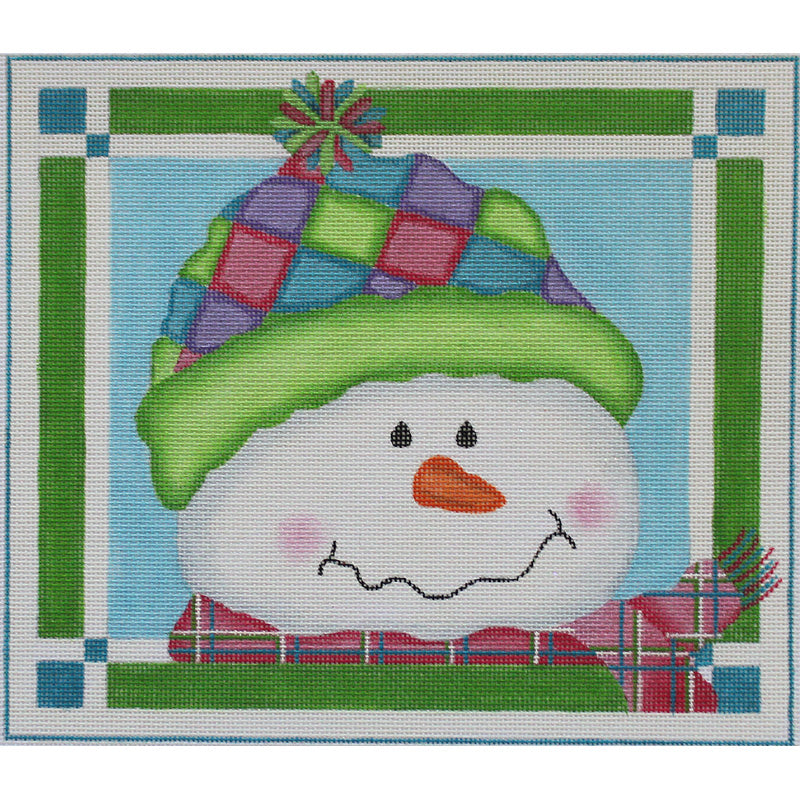 Patches the Snowman by Pepperberry Designs with stitch guide*