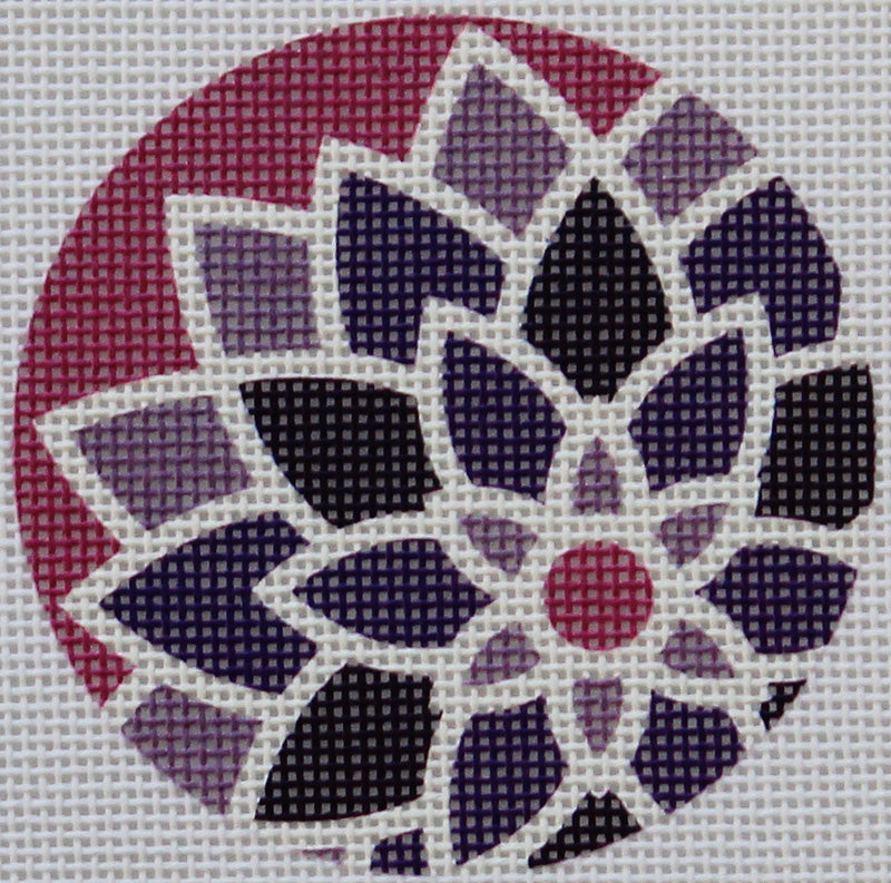 Purple Graphic Flower by Pepperberry Designs