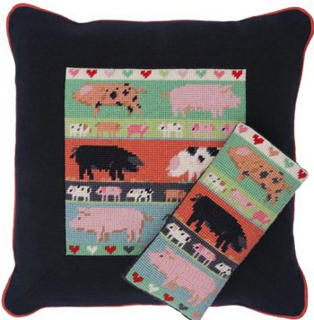 Pigs & Piglets Needlepoint Kit