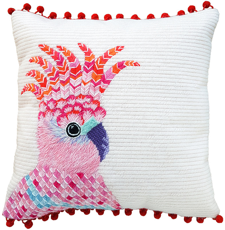 Pink Cockatoo Contemporary Needlepoint Kit