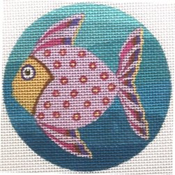 Pink fish ornament  - Canvas Only
