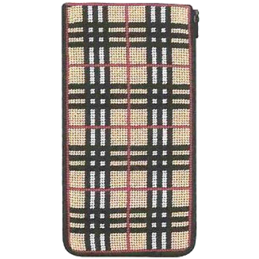 plaid stitch and zip eyeglass needlepoint