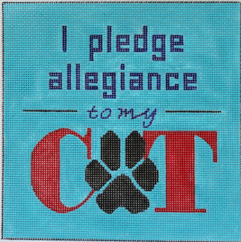 I Pledge Allegiance To My Cat needlepoint from Julie Mar