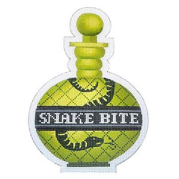 Poison bottle Snake Bite Halloween needlepoint   - Canvas Only