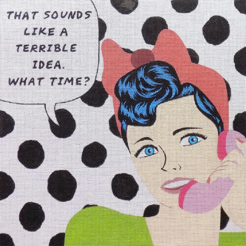 Pop Art Needlepoint Terrible Idea