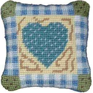 Primavera Gingham Heart pincushion kit
