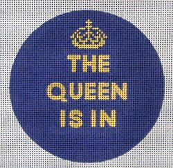 The Queen Is In Needlepoint Ornament - Canvas Only