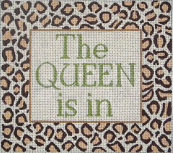 The Queen Is In Needlepoint - Canvas Only