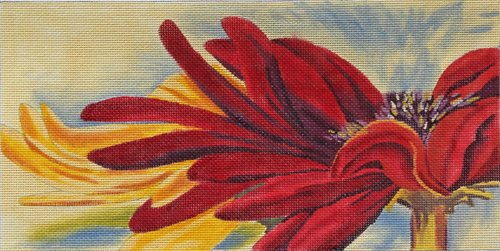Crimson Daisies by Karen Dukes  - Canvas Only