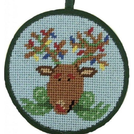 reindeer needlepoint ornament kit