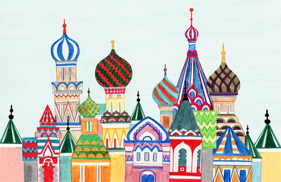 Russian Architecture Needlepoint - Canvas Only
