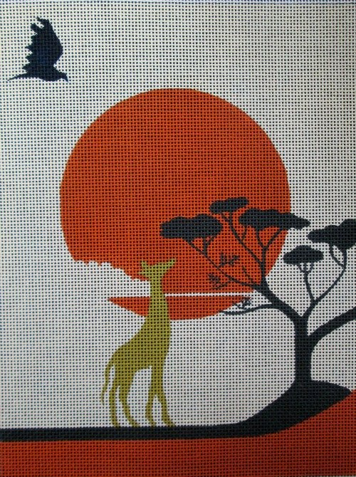 Sunset Safari Needlepoint - Canvas Only