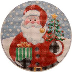 Santa's Gifts Christmas Ornament - Canvas Only