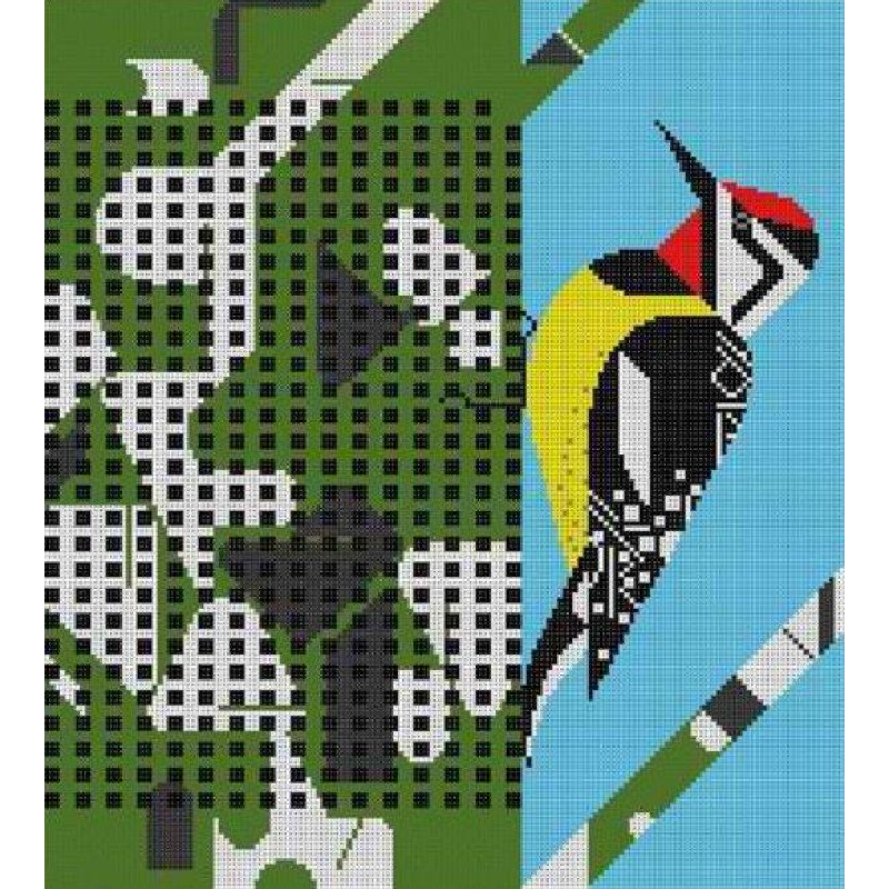 Charley Harper Needlepoint Savoring Sycamore