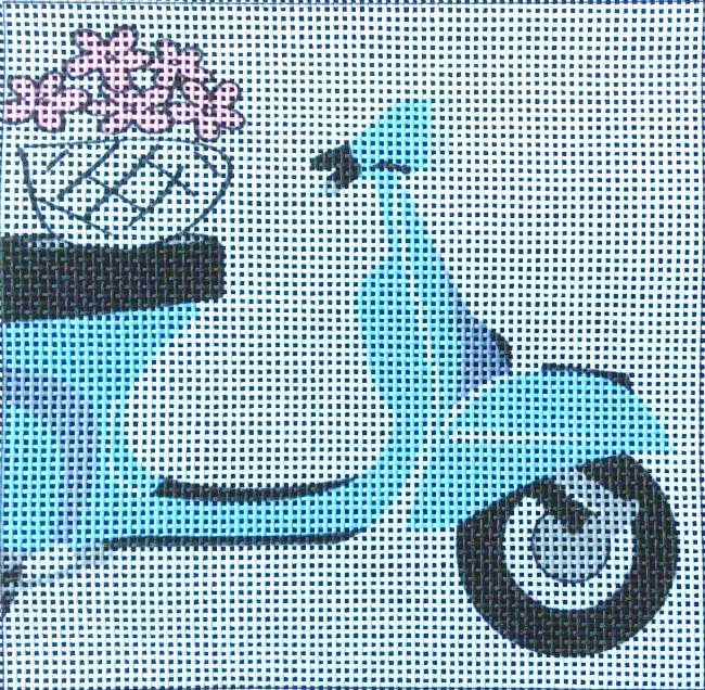 Scooter Easy Needlepoint