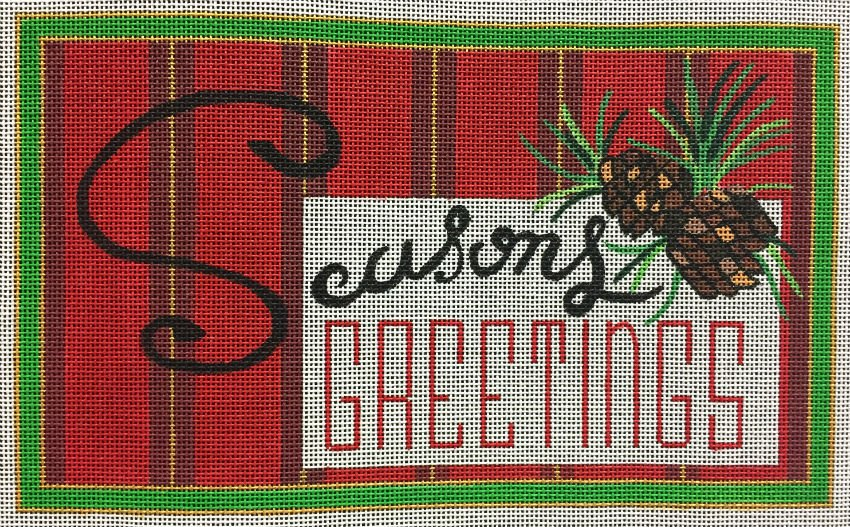Seasons Greetings Needlepoint - in stock - Canvas Only