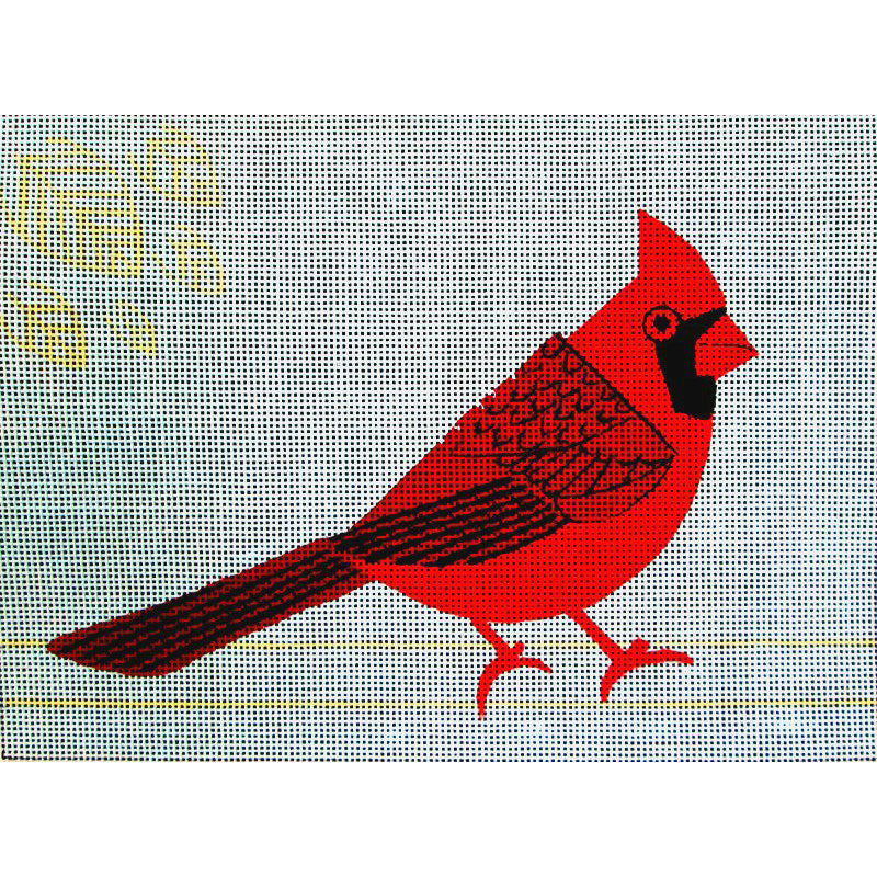 Cardinal Needlepoint By Anna See