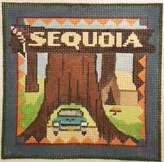 Sequoia needlepoint by Denise De Rusha - Canvas Only