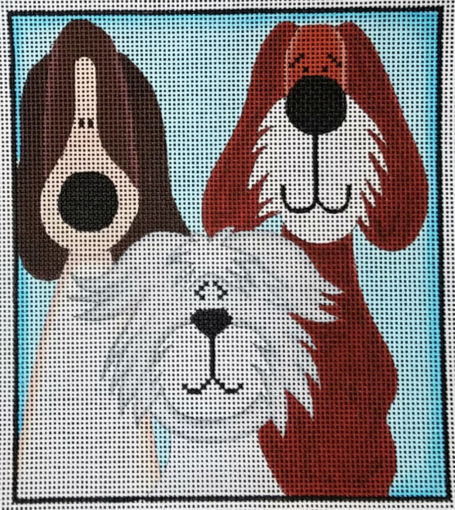 Whimsical Pups #1 - Canvas Only