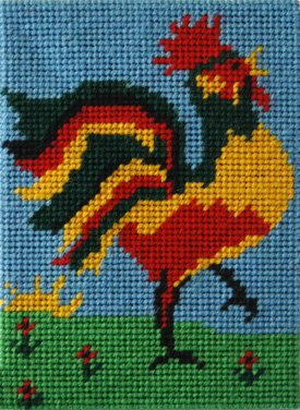 Kids Needlepoint Kit Rex Rooster