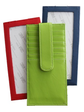Needlepoint Credit card holders in Leather  - One of each
