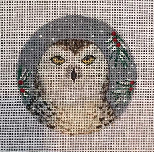 Needlepoint  Ornament Snowy Owl - Canvas Only