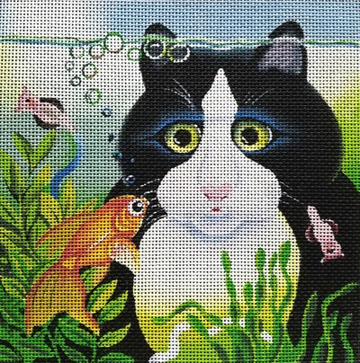 Vicky Mount Needlepoint<BR>So Near - Canvas Only
