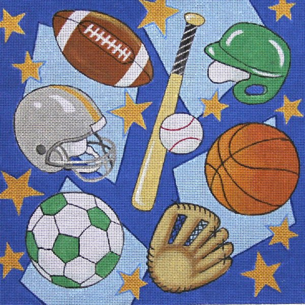Sports Blast Needlepoint - Canvas Only