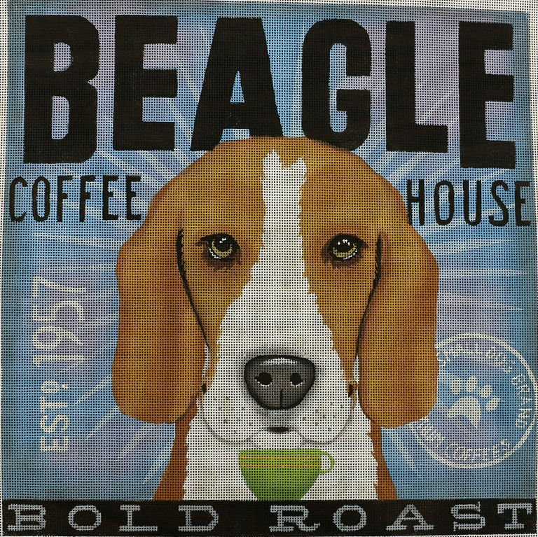 Beagle Dog Needlepoint by Stephen Fowler - Canvas Only