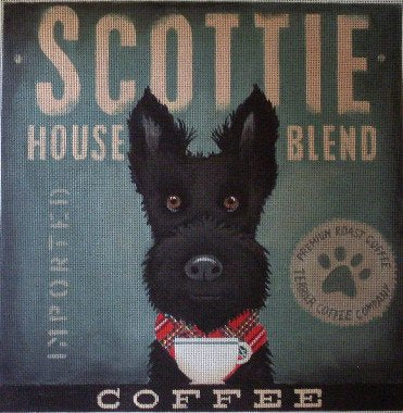 Scottie Dog Needlepoint by Stephen Fowler - Canvas Only