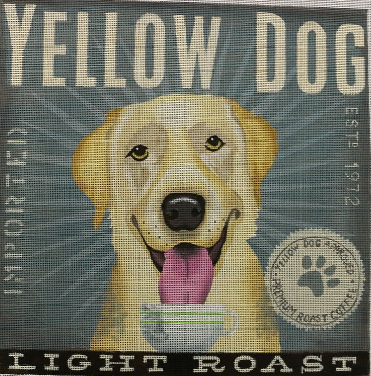 Yellow Lab Needlepoint by Stephen Fowler - Canvas Only