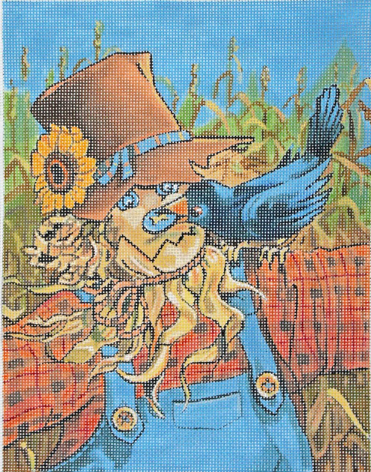 Scarecrow Antics by Janet Stever - Canvas Only