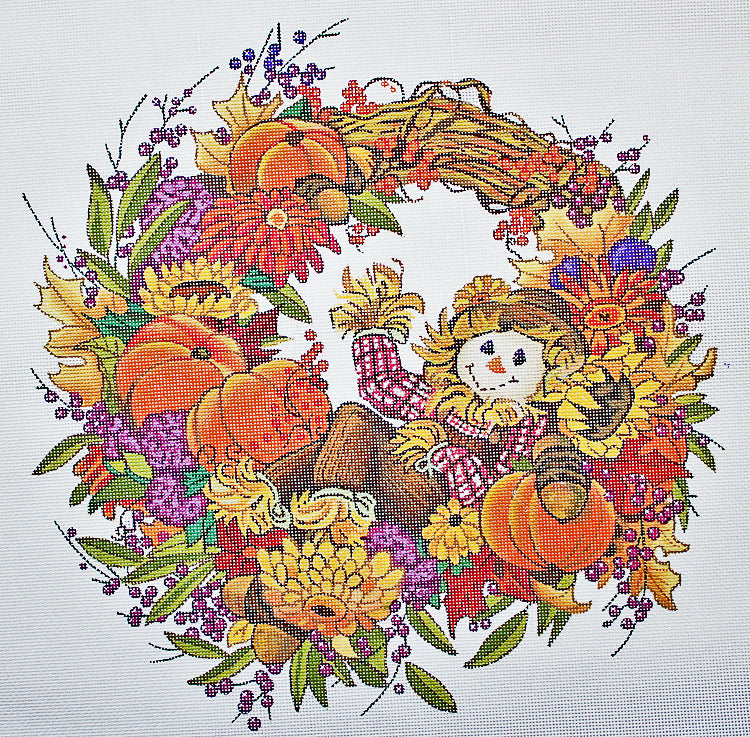 Welcome Wreath Needlepoint