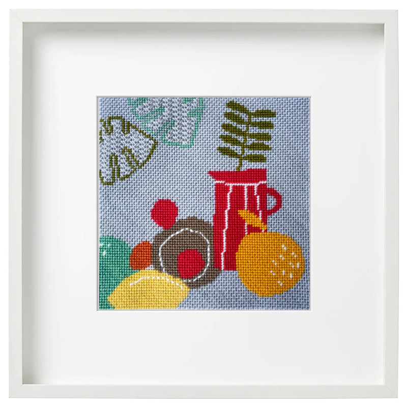 Modern Still Life Palms Needlepoint Kit