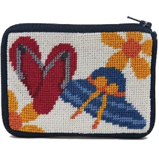 Stitch and Zip coin purse needlepoint kit Beach Accessories