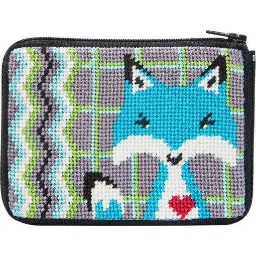 Stitch & Zip Coin Purse Fox