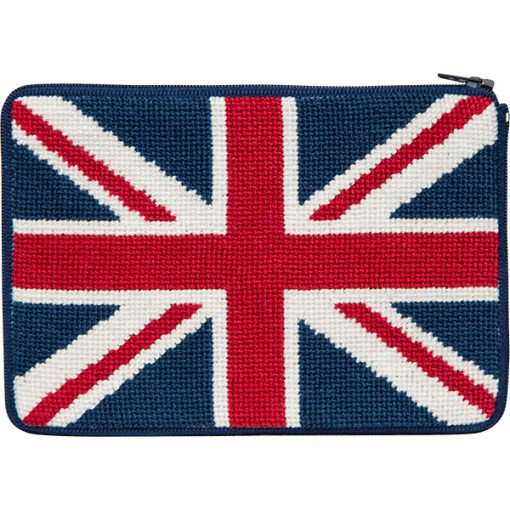 Stitch & Zip Needlepoint Purse British Flag