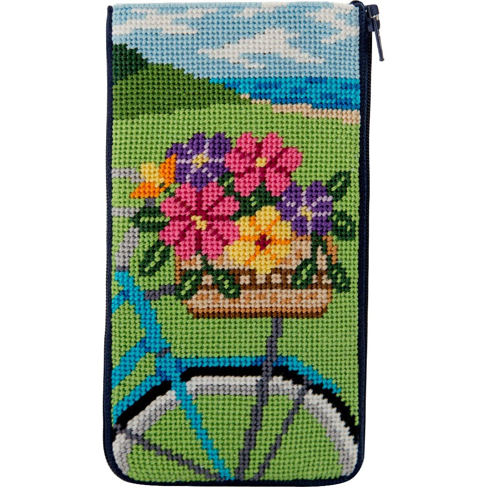 Stitch & Zip Eyeglass Case Springtime Ride NEW!