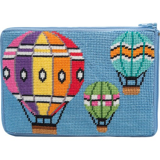Stitch & Zip Needlepoint Purse Balloons in Flight