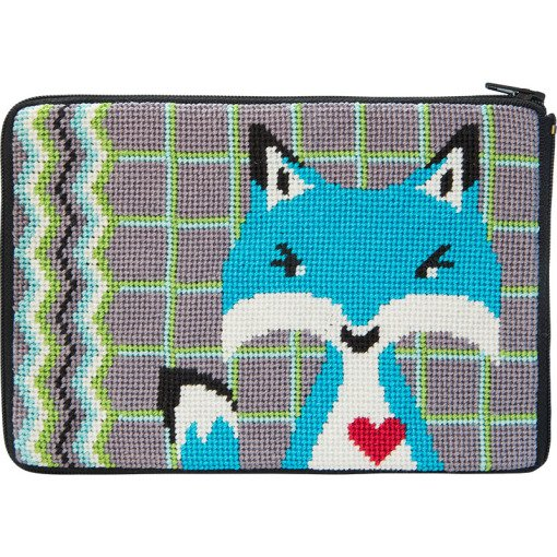 Stitch & Zip Needlepoint Purse Fox