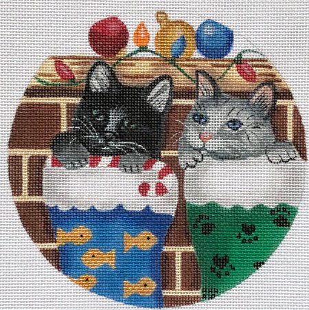 Needlepoint Christmas Ornament Stocking Stuffers - Canvas Only