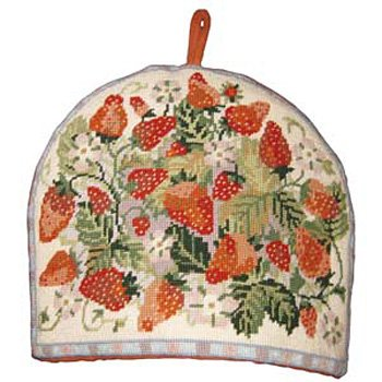 Strawberry Tea Cosy Primavera Needlepoint