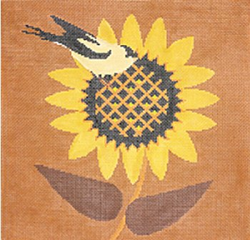 Goldfinch & Sunflower by Cindy Lindgren  - Canvas Only