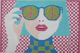 Sunglasses Girl - Canvas Only